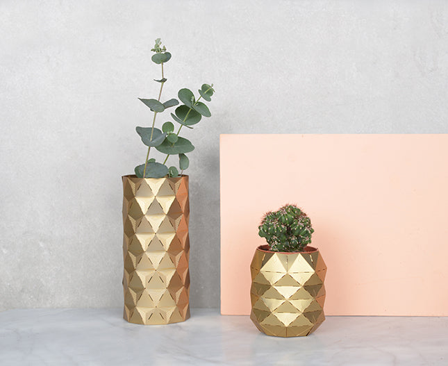 Brass Pineapple, Pots and Plants