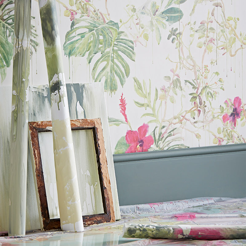 Sian-Zeng-Seasons-Spring-Wild-Rain-Close-Up - Wallpaper - Interior - Painterly - Colour - Painting