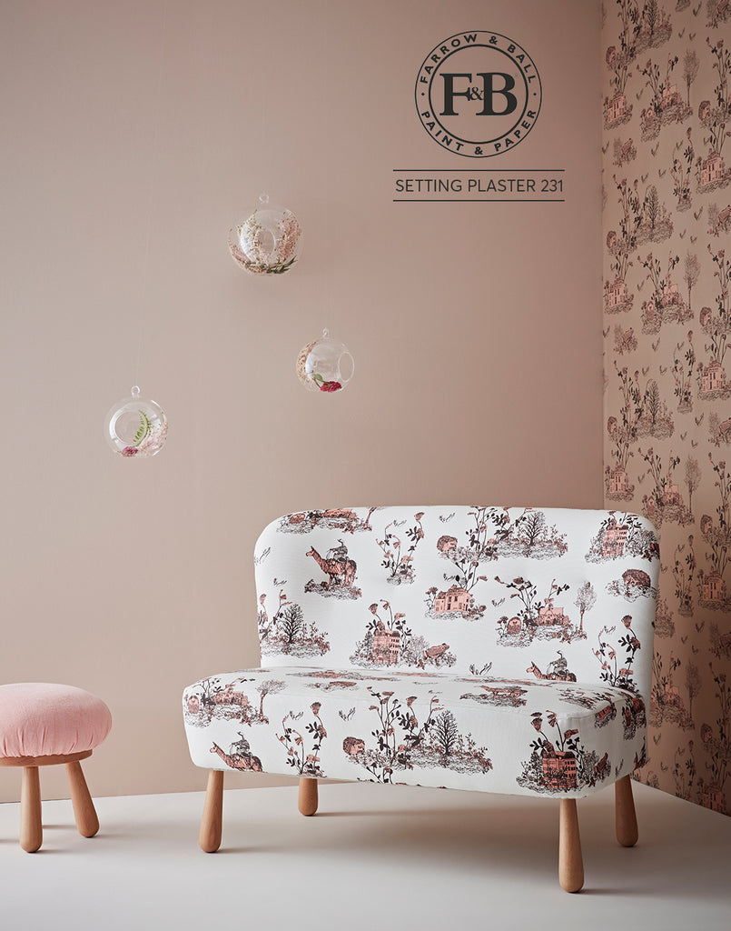 Woodlands Brown pink Farrow and ball Setting Plaster