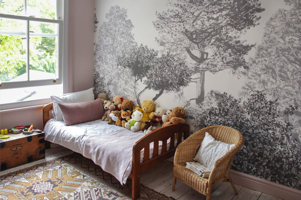 Yoko Kloeden Interior Designer Hua Trees Mural in young girl's bedroom