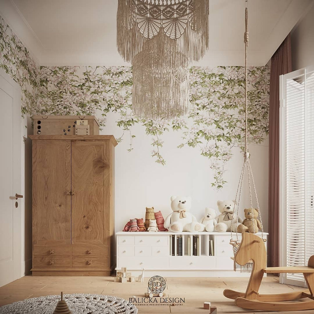 Sian Zeng Clematis Mural in White
