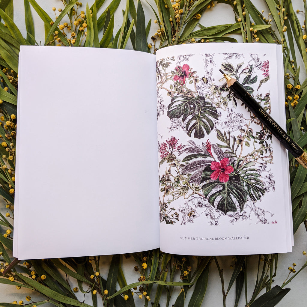 Sian Zeng 10 year anniversary notebook Summer Tropical Bloom