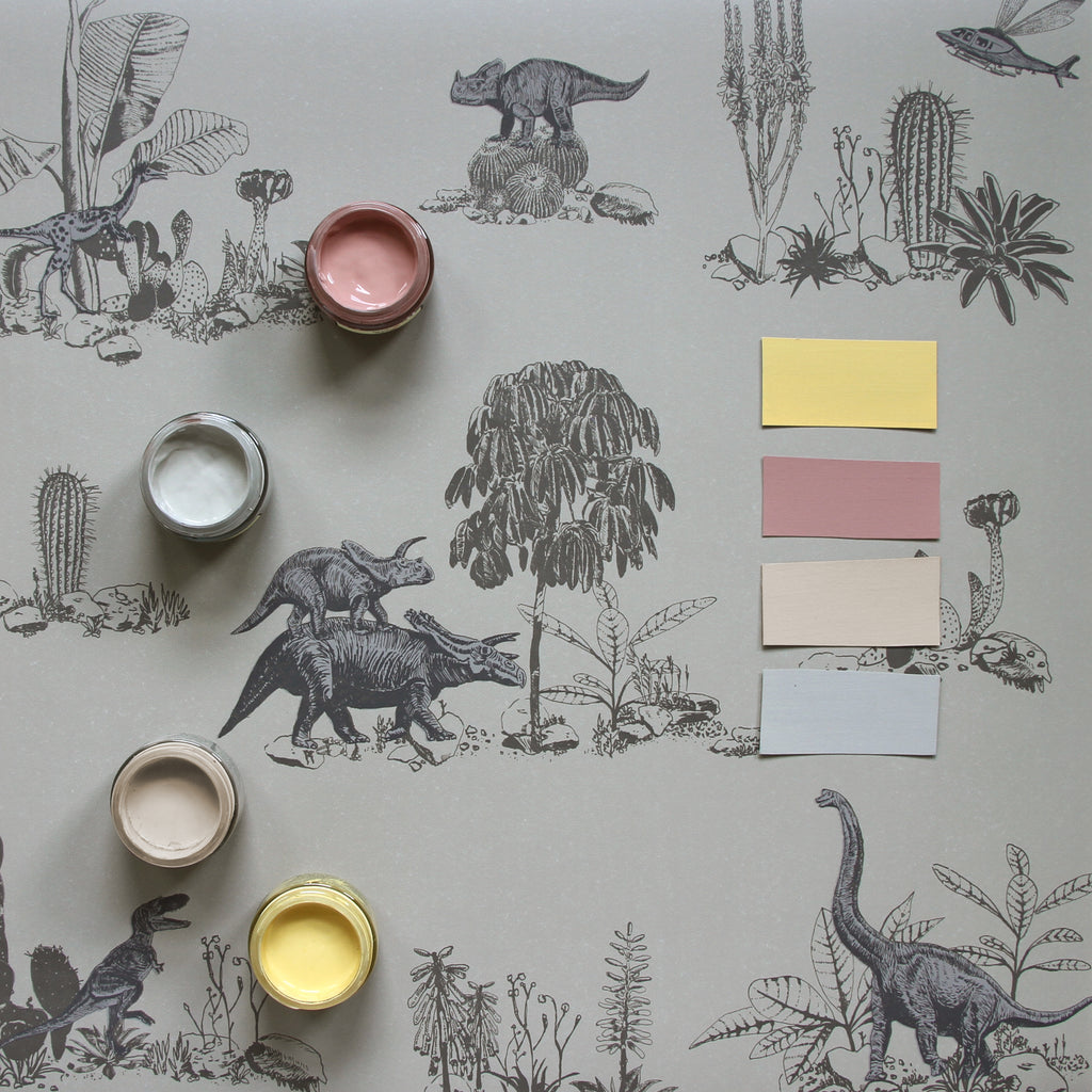 Sian Zeng Dino in Grey with Little Greene Paint colours