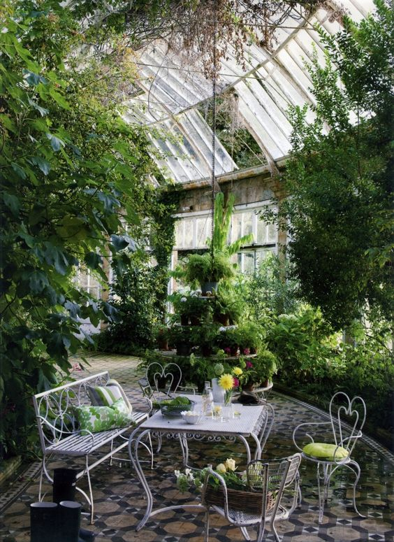 greenhouse garden furniture