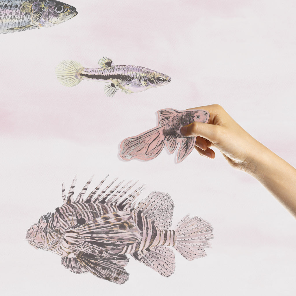 Sian Zeng Magnetic Fish Wallpaper in Pink