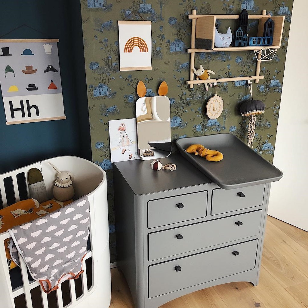 How To Style Our Woodlands Wallpaper In Khaki Blue Sian Zeng