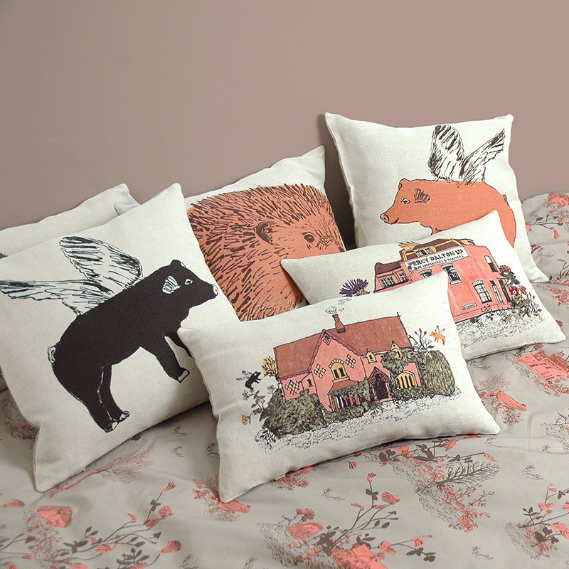 Designer Cushions, Homely, Beautiful, Cottage, Pink, Green.