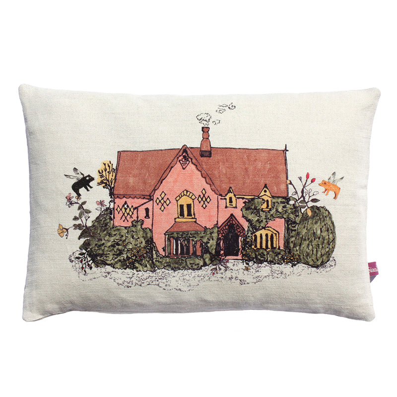 Designer Cushion, Pretty Cottage, Flowers, Beautiful.