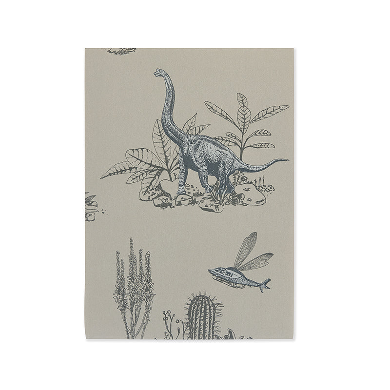 Fun, Magnetic Dinosaur Wallpaper Sample Pack. Grey Dinosaur Wallpaper. Children's Bedroom. Unique Wallpaper. Designer Wallpaper.