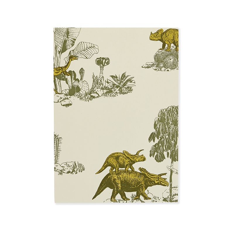 Dinosaur Kids Wallpaper, Fun, Yellow, Green, Designer