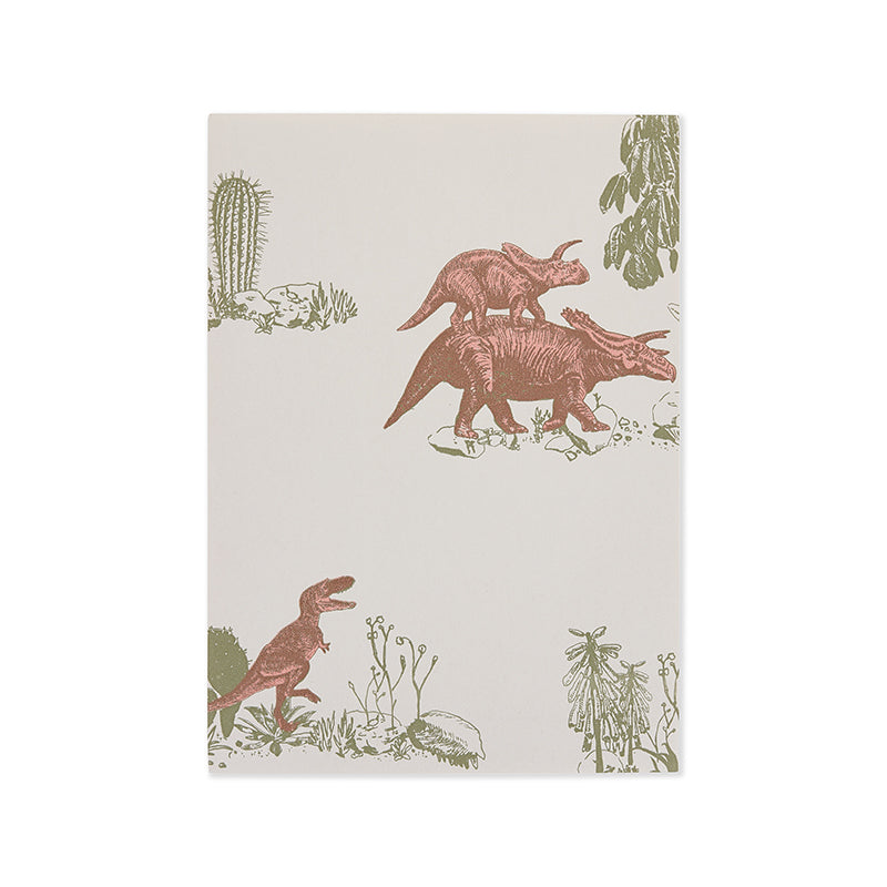 Dinosaur Kids Wallpaper, Fun, Grey, Designer.