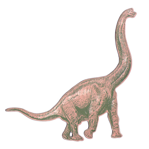 Diplodocus Pink Dinosaur Magnet. Quirky Magnet.