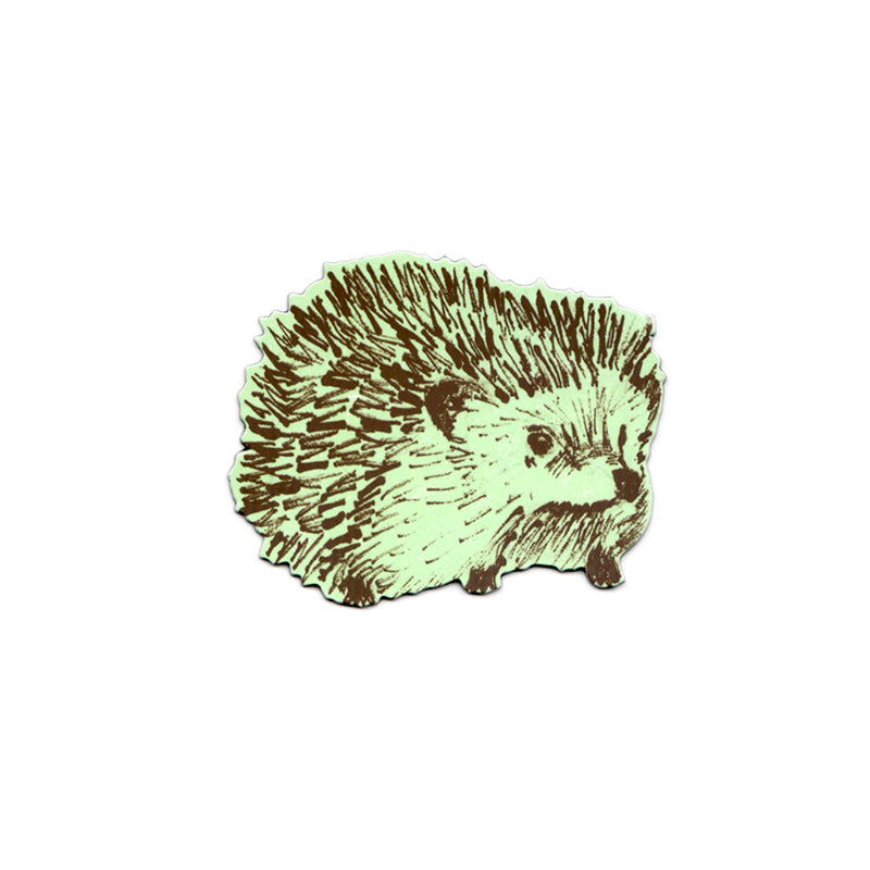 Cute Green Hedgehog Fridge Magnet. Designer.