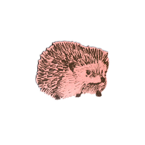 Cute Pink Hedgehog Fridge Magnet. Designer.