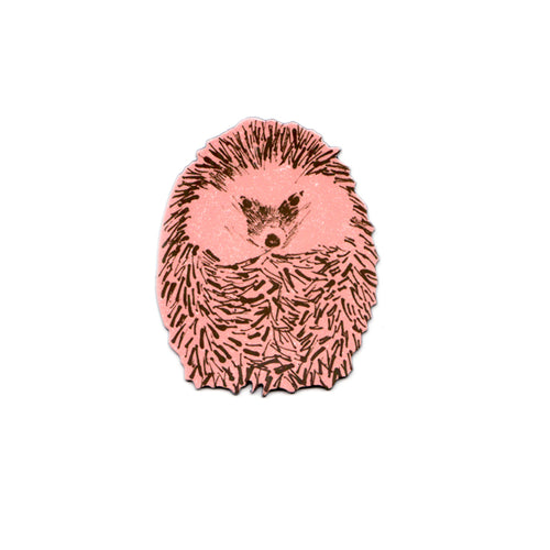 Cute Pink Junior Hedgehog Magnet. Designer.