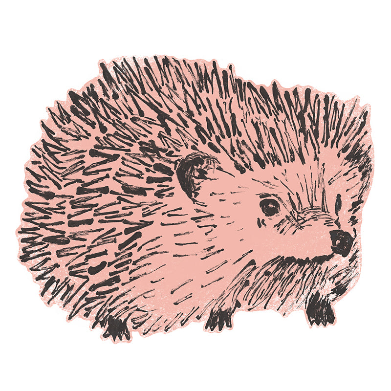 Hedgehog Fabric Wall Sticker, Pink, Wall Art, Wall Decoration, Designer.
