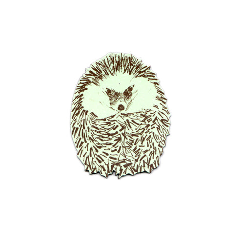 Cute Green Junior Hedgehog Magnet. Designer.
