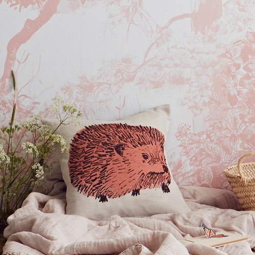 Pink Hedgehog Designer Cute Cushion.