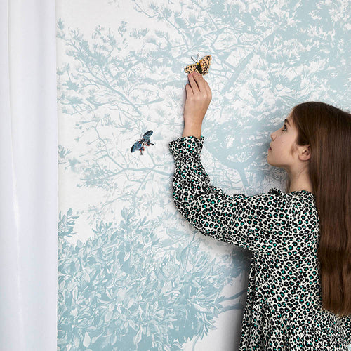 Magnetic Hua Trees Mural - Blue