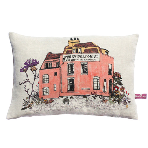 Percy Dalton Designer Cushion. Cotton, Linen Mix. Designer Cushion.