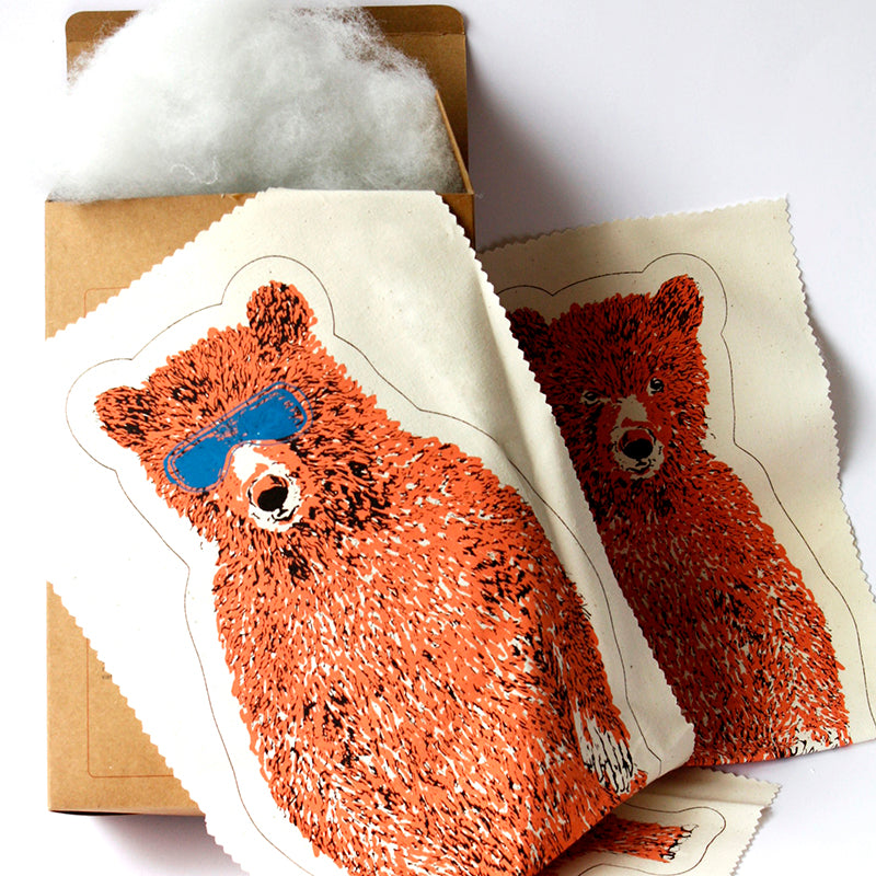 Pink Holiday Bear Kit. Make Your Own, Do It Yourself Craft Kit. Unique Gift Idea.