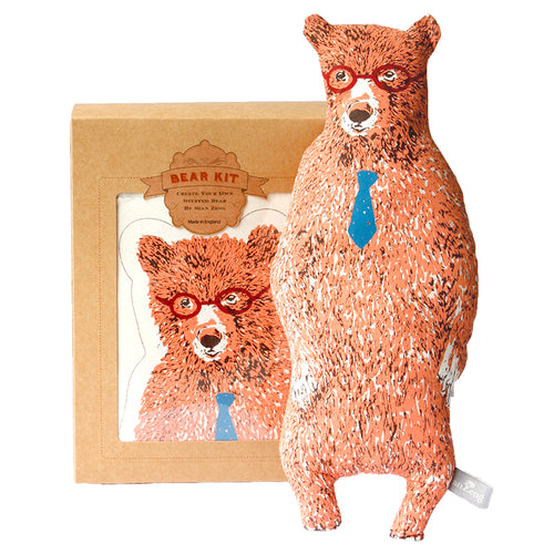 Pink Office Bear Kit. Make Your Own, Do It Yourself Craft Kit. Unique Gift Idea.