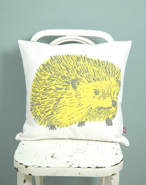 Yellow Cute Junior Hedgehog Cushion