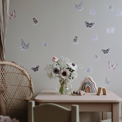 Butterfly Fabric Sticker - Blush