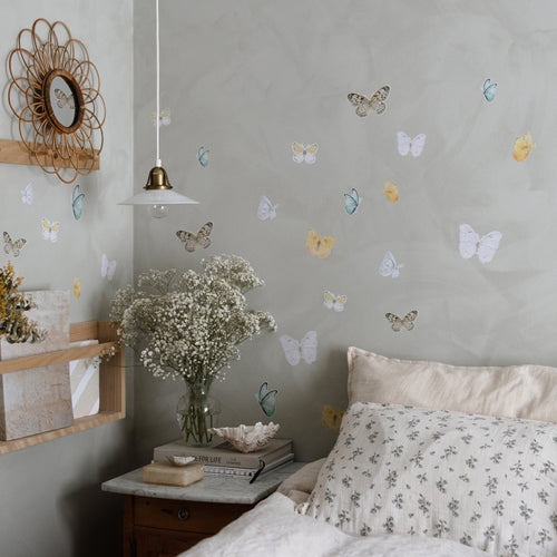 Butterfly Fabric Sticker - Bright