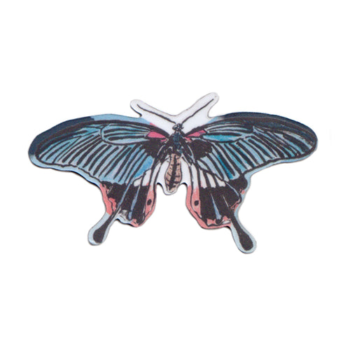 Blue and Red Butterfly Magnet