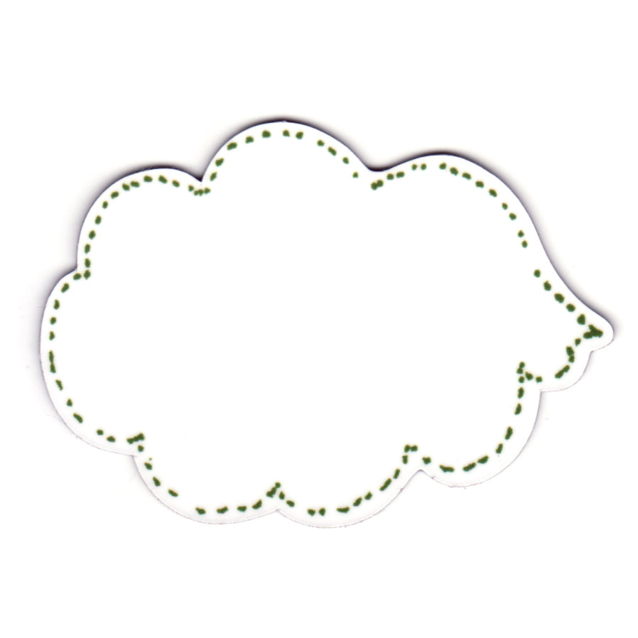 Magnetic Dry Wipe Speech Bubble, Green, Leave a message Magnet, Write on Magnet.