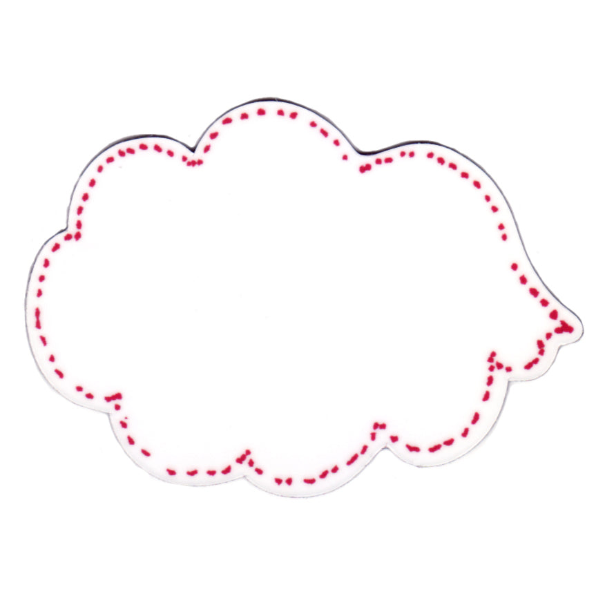 Pink Dry Wipe Speech Bubble Magnet. Leave a message Magnet, Write on Magnet.