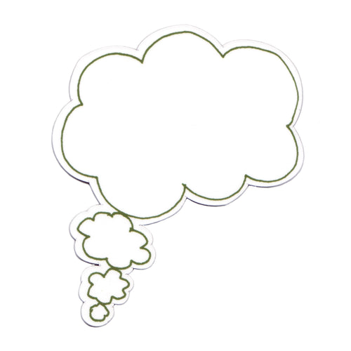 Green Dry Wipe thought bubble magnet. Write a message magnet, Storytelling magnets.