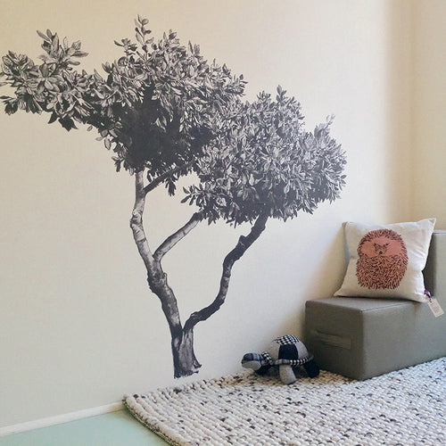 Croatian Fabric Tree Sticker, Wall Art, Wall Sticker, Hand Painted, Designer.