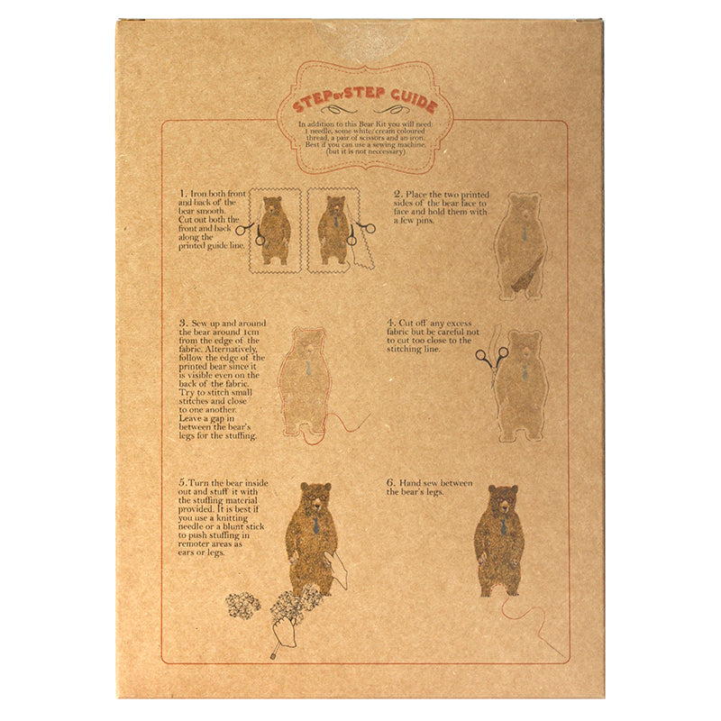 Brown Office Bear Kit. Make Your Own, Do It Yourself Craft Kit. Unique Gift Idea.
