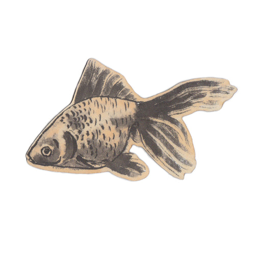 Yellow Gold Fish Magnet