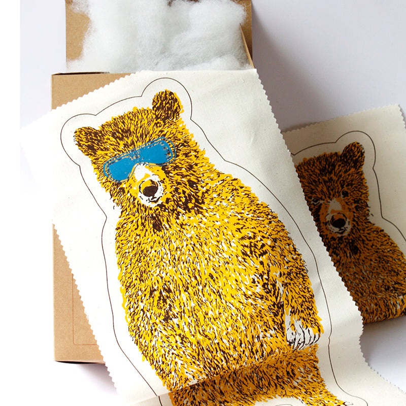 Holiday bear kit yellow sian zeng yellow holiday bear kit make your own do it yourself craft kit unique solutioingenieria Gallery