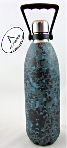Digital Navy Camo Atlasware Bottle
