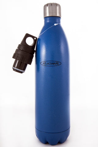 Hammer Blue Atlasware Bottle