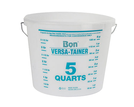 BON TOOL - 5 QUART MIXING CONTAINER - CLEAR