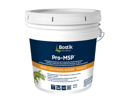 BOSTIK - PRO-MSP WOOD ADHESIVE WITH MOISTURE VAPOR PROTECTION 4 GALLON