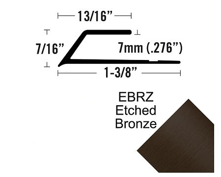 FUTURA - 7MM BEVEL CAP, LVT 407 ETCHED BRONZE