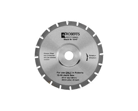ROBERTS - 10-47-6  20-TOOTH CARBIDE TIPPED BLADE
