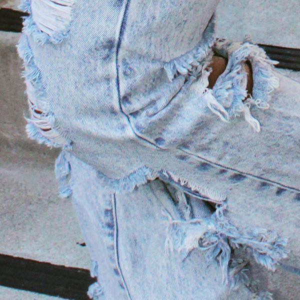 """Cut Em Up"" distressed jeans"