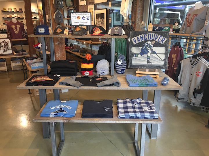 Vancouver Canucks vintage apparel at The SPORT Gallery