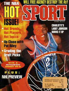 October 1992 Sport Cover (Larry Johnson, Charlotte Hornets)
