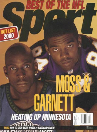 March 2000 Sport Cover (Kevin Garnet, Minnesota Timberwolves, Randy Moss, Minnesota Vikings)