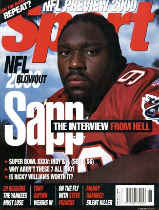 August 2000 Sport Cover (Waren Sapp, Tampa Bay Buccaneers)