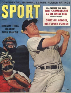 August 1960 Sport Cover (Mickey Mantle, New York Yankees)