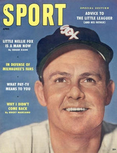 April 1958 Sport Cover (Nellie Fox, Chicago White Sox)